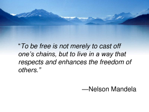 Mandela on Freedom